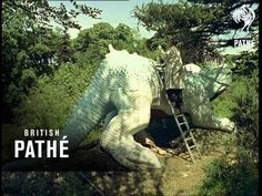 In this 1959 film, Crystal Palace's famous dinosaur sculptures are restored. They remain a wonderful record of how dinosaurs were believed to have looked and lived at the time these models were built in the Crystal Palace, Hyde Park, Le Palais, Exhibition, Expositions, East London, Dinosaurs, Monsters, Garden Sculpture