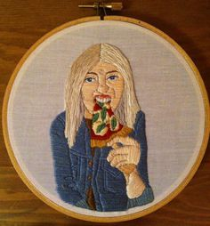 Pizza + embroidery art: yes!