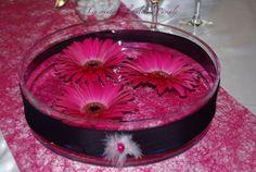 Centre de table mariage rose fushia 282