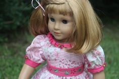 "A summer dress for Nellie an american girl or any 18"" doll"
