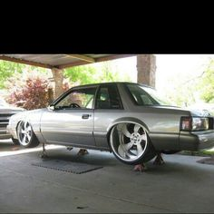 OM effin the finest grey mustang coupe gt 50 chp highway tubbed Ford Mustang Fox Body, Mustang Lx, Mustang Cars, Mustang 2000, Pony Car, Custom Muscle Cars, Custom Cars, Notchback Mustang, Modified Cars