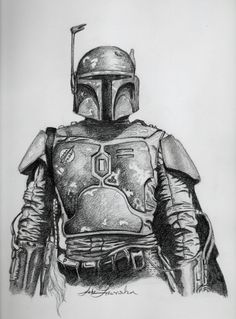 Star Wars: Boba Fett by Luke Forwoodson Star Wars Drawings, Marvel Drawings, Star Wars Pictures, Star Wars Images, Nave Star Wars, Star Wars Art, Star Wars Boba Fett, Star Wars Rebels, Desenho Do Star Wars