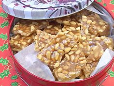 Any Nut Brittle: Like the name implies, you can use your favorite nut to make this brittle. If you can bear to give it away, present it in holiday gift tins, available at crafts stores.