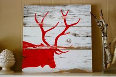 Shop Montana gifts like the Weathered Elk Silhouette Rustic Barn Wood Sign featured in our Home collection of Montana-made western wall art by local artisans.