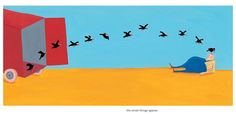 Little Bird: A Beautifully Minimalist Story of Belonging Lost and Found by Swiss Illustrator Albertine | Brain Pickings