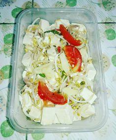 15 Resep olahan tahu sederhana instagram Asian Fish Recipes, Tofu Recipes, Cooking Recipes, Ethnic Recipes, Indonesian Food Traditional, Pasta Salad, Cobb Salad, Fruit Salad Recipes, Food And Drink