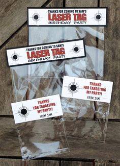 Laser Tag Party - Treat Bag Toppers
