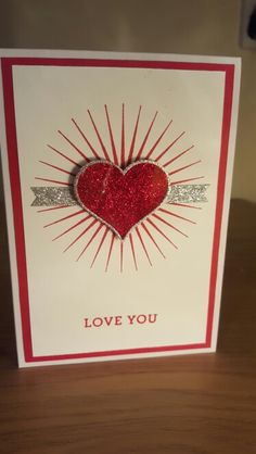 Stampin Up Valentines card using Bloomin Love and Groovy Love