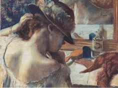 Edgar Degas At the Mirror painting is available for sale; this Edgar Degas At the Mirror art Painting is at a discount of off. Edgar Degas, Degas Drawings, Degas Paintings, Watercolor Paintings, Mirror Canvas Art, Mirror Artwork, Mirror Painting, Artist Painting, Mirrors