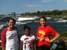 Niagara Falls, here we come! Fresh Air child visits the landmark site with her host family. @Courtney Rung @Nanette Rung