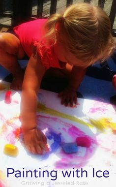 Ice Painting- a FUN way to keep cool this Summer!