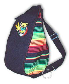 Grateful Dead - Rasta Dancing Bear Sling  Backpack