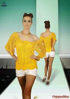 Todo crochet: Blusa encantadora!!