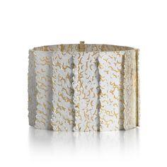 Patrick Davison bracelet in 18k gold with fine silver