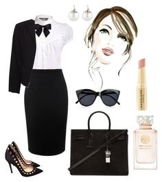 """""""Working day!"""" by jasive-asseff-jamous ❤ liked on Polyvore featuring Pilot, Alexander McQueen, Gianvito Rossi, Yves Saint Laurent, Le Specs, Chanel, Theory, Napoleon Perdis, Tory Burch and Samira 13"""