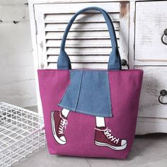 Purchase Womens Purse Zipper Pachwork Cowboy Canvas Shoulder Bag Messenger Bag bag 2730 from Yuanzala on OpenSky. Fabric Tote Bags, Printed Tote Bags, Tote Bag With Pockets, Denim Purse, Patchwork Bags, Canvas Shoulder Bag, Womens Purses, Black Handbags, Shoulder Handbags