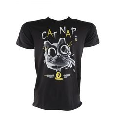 Portlandia band Cat Nap rocked the Bagdad Theater last year, and now you can show your fan love with the t-shirt. 100% combed cotton. Black. Sizes: Small to X-Large. Designed and printed in Portland, Oregon on a USA made t-shirt.