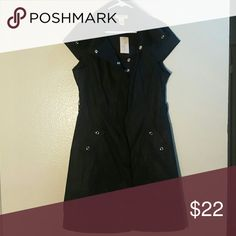 BRAND NEW vertigo paris black shirt dress size L Size L Vertigo Paris Dresses Midi