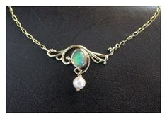 Necklace with australian opal.. I absolutely love this!!!