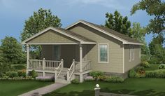This lovely three bedroom country home welcomes you with a covered porch and makes the most use of the space. Country House Plan # 321121.