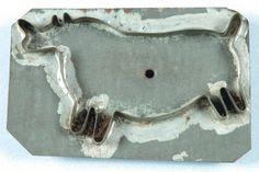 Rare 19th Century Rhinoceros Form Tin Cookie Cutter