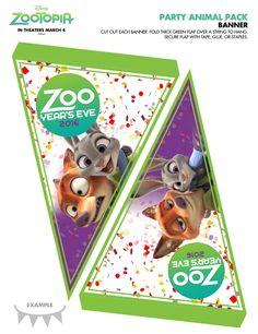 Personnalisé Zootopia Autocollants Nick Wilde Judy Hopps fête d/'anniversaire Cônes label