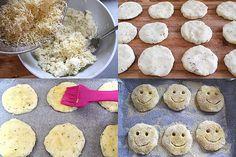 Πανευκολες Πατατοκροκετες φουρνου χαμογελαστες!Ιδανικες για παιδικο παρτυ