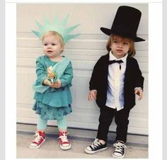 Good combo with Henry as Abe Lincoln. I have a Statue of Liberty foam tiara in the garage on Woodrow that she can use. Then all you need is a green sheet ...  sc 1 st  Pinterest & 30 best Independence Day Costumes images on Pinterest | Adult ...