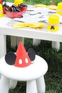 Gorrita para cumple Mickey Mouse