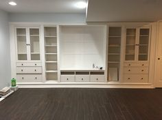 IKEA Hack Built Ins In Our Basement-Hemnes Series