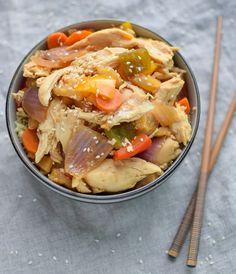 Slow Cooker Chicken Teriyaki Quinoa Bowls