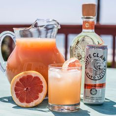 Vitamin sea with a side of vitamin C. Fresh squeezed grapefruit juice packs a citrusy punch into these Ruby Red Palomas. Try it this weekend: 1 can White Claw Grapefruit 3 oz grapefruit juice 1 oz tequila blanco Grapefruit wedge garnish Skinny Alcoholic Drinks, Alcoholic Punch, White Claw Hard Seltzer, Paloma Recipe, Spiked Seltzer, Grapefruit Diet, Keto Drink, Frozen Drinks, Summer Drinks