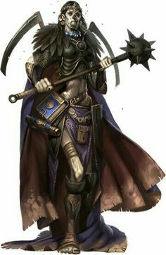 Female Evil Cleric - Pathfinder PFRPG DND D&D d20 fantasy