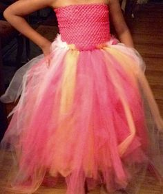 The front of Rylee's Jr Bridesmaid Tutu Dress.