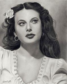 Hedy Lamarr - Pencil Sketch