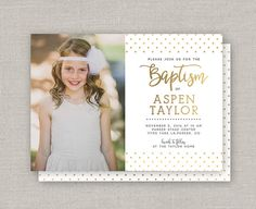 LDS Baptism Invitation Aspen by announcingyou on Etsy Aspen, Lds, Baptism Announcement, First Holy Communion Cake, Baptism Invitations, Kids Church, All The Colors, Birthday, Prints