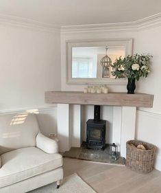 Fireplaces are amazing – whether you're looking for a romantic evening with your partner, planning to tell an exciting story to your grandkids, snuggl. Home Fireplace, Living Room With Fireplace, Home Living Room, Living Room Designs, Living Room Decor, Fireplace Ideas, Corner Fireplaces, Log Burner Fireplace, Cottage Living Rooms