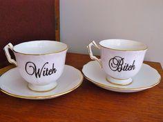 Witch Bitch tea set / trixiedelicious