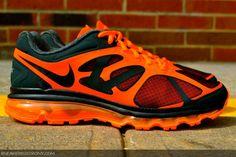 Nike Air Max+ 2012 Black and Orange