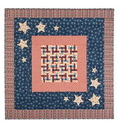 An American Notion free quilt pattern- Lap quilt or Table Topper from ConnectingThreads.com