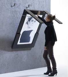 Table-shaped photo frame design... I've often thought this would be brilliant for our dining area.