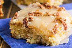 Pineapple Sheet Cake flavored and moistened with crushed pineapple and topped…