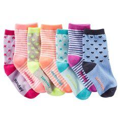 Baby Girl 7-Pack Weekday Crew Socks | OshKosh.com