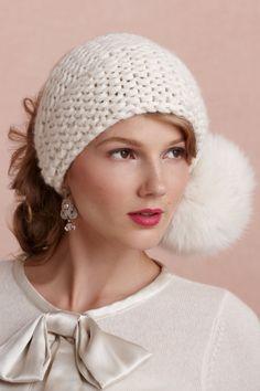 Seasonal Wedding Ideas: Helsinki Headwrap for a snowy affair- via BHLDN