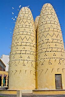 Doha, Qatar - traditional dove cotes - perhaps the inspiration for Jean Nouvel's Burj Tower?