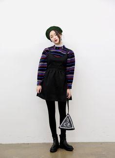 Sweetheart Neck Mini Dress (Black) | STYLENANDA