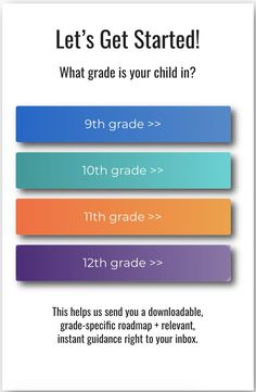 A grade specific roadmap filled with tips, timelines, designed to be your ultimate guide to helping your kid get into college. #college #collegeadmissions #classof2020 #college #getintocollege
