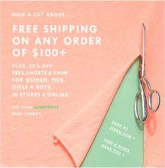 J.Crew (2 of 2): Trial/Purchase - By highlighting the sales and promotions going on, the brand is trying to drive new customers to take action and make a purchase. In its current positioning, JCrew has a strong, loyal fan base, so they tend to work harder on pulling in first-time customers.