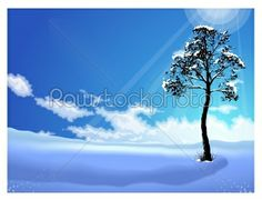 stock vector: the path of the light shining in winter winter background-Raw Stock Photo ID: 15329