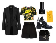 """""""White and Yellow"""" by aimeeindaeyo on Polyvore featuring NIKE, Chloé, RED Valentino and Balenciaga"""